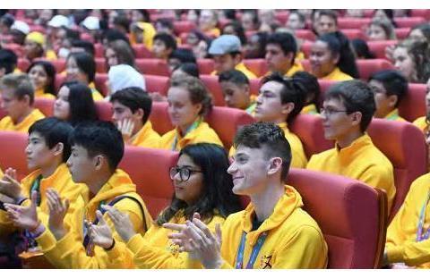 """第十二届""""汉语桥""""世界中学生中文比赛欢迎仪式在郑州47中举行"""
