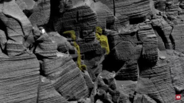 有人称火星上有古埃及建筑,未完成的人脸雕刻,鼻子眼睛都显现了