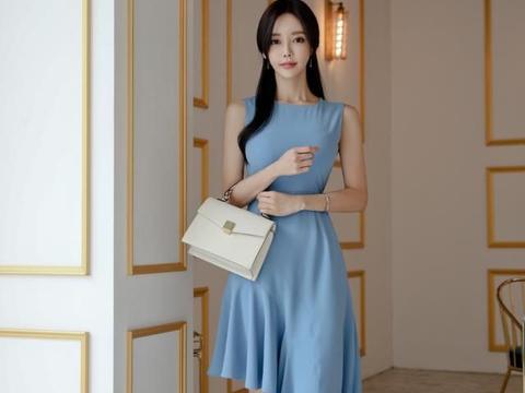 孙允珠——米兰华沙冰湖纯净琉璃连衣裙写真