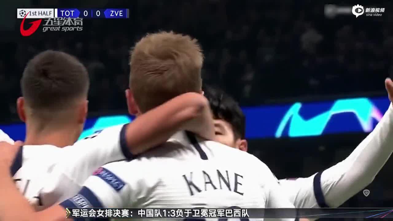 视频-孙兴慜梅开二度 热刺五球大胜红星