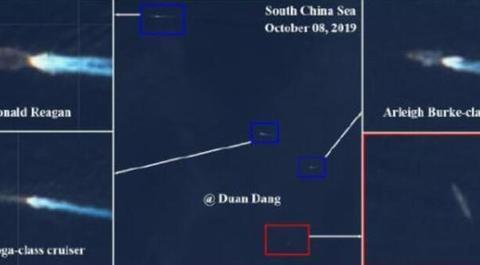 美舰队刚抵达黄岩岛,航母就被3艘大国军舰围堵,指挥官大惊失色