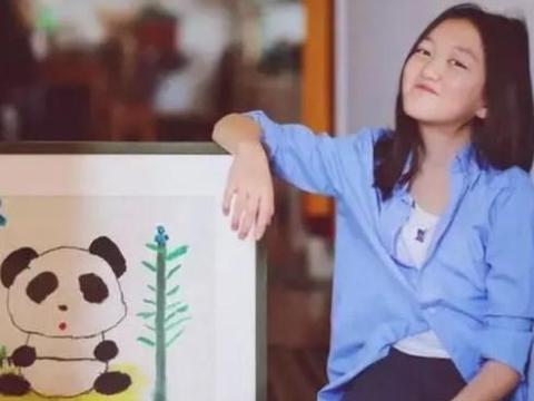 王菲女儿李嫣画画有天赋?7岁画作卖出90万人民币
