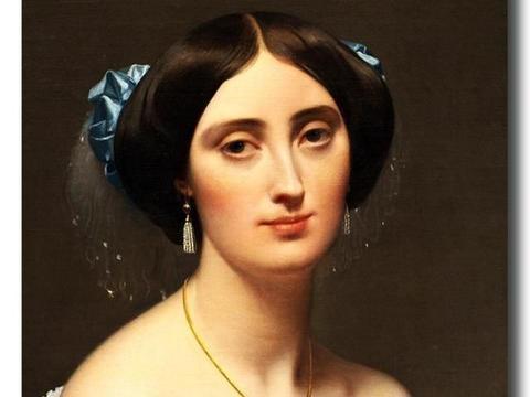 大师作品欣赏——安格尔的《阿尔伯特 德 布洛格丽公主》