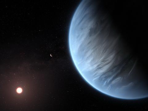 """第一次!哈勃望远镜在""""超级地球""""上发现水蒸气"""