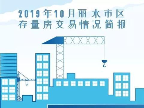 2019年10月丽水市区存量房交易情况简报