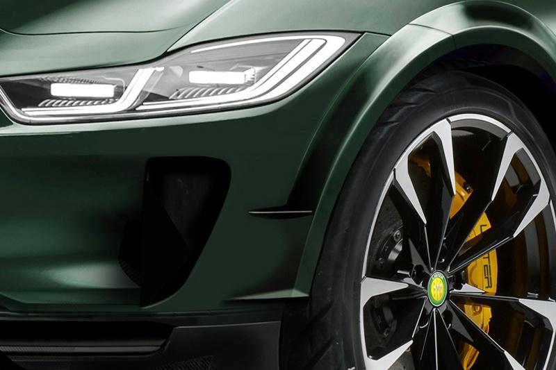 動力提升/4秒破百 車身碳纖維套件 捷豹I-PACE特別版概念車官圖