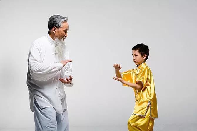 孩子,如果可以,我希望带着你从小开始练习太极