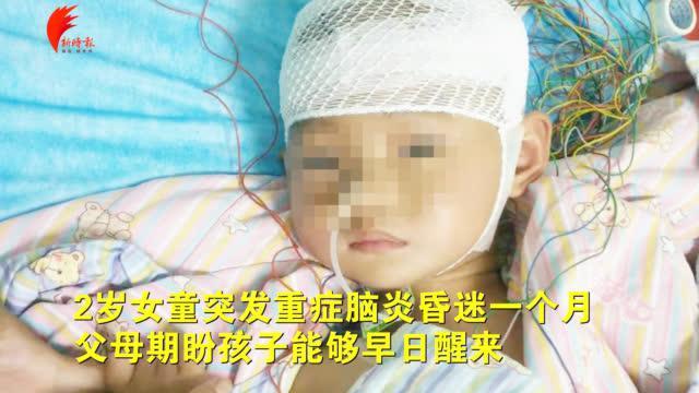 2岁女童突患重症脑炎昏迷!住进PICU一个月至今未醒