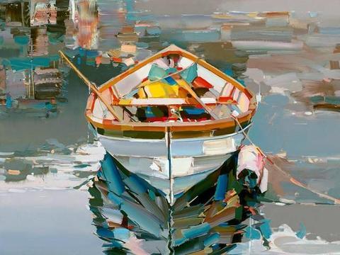 阿尔巴尼亚艺术家笔下的风景画能治好一个人的抑郁症