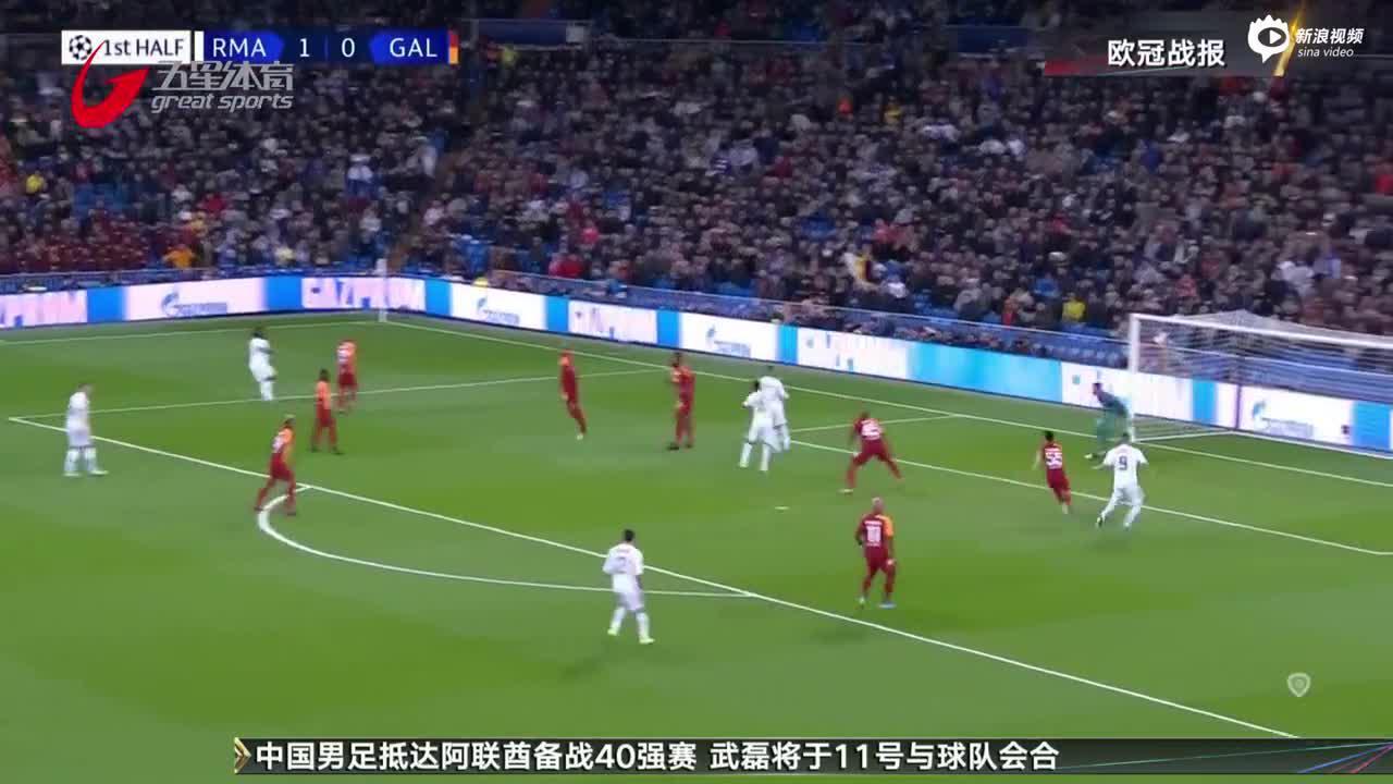 """视频-欧冠A组:罗德里戈""""戴帽"""" 皇马六球大胜"""