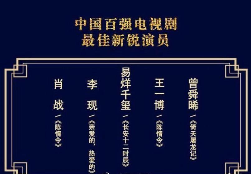 华鼎奖新锐演员竞争大,五位演员选谁都有粉丝难过