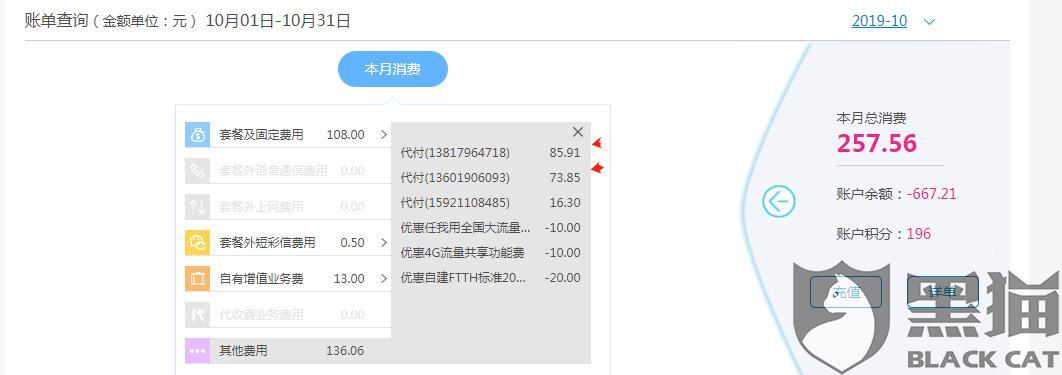 黑猫投诉:对上海移动上网套餐费用不满