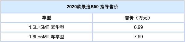 东风新款景逸S50正式上市:售6.99-7.99万元