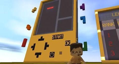 迷你世界:发现1个超大型俄罗斯方块游戏机,目前为止没人能通关