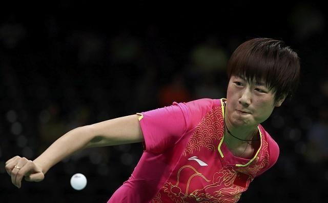 国乒女队胜中华台北进决赛,丁宁受伤仍取胜