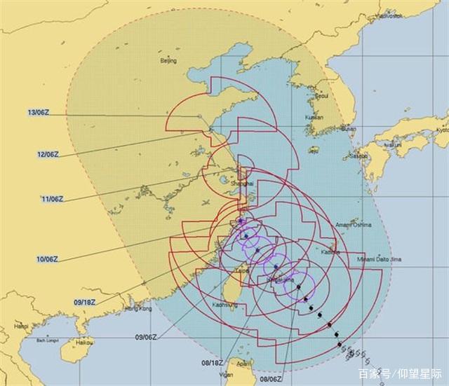 """确定了!超级台风""""利奇马""""9号登陆台湾,时速最高259公里"""