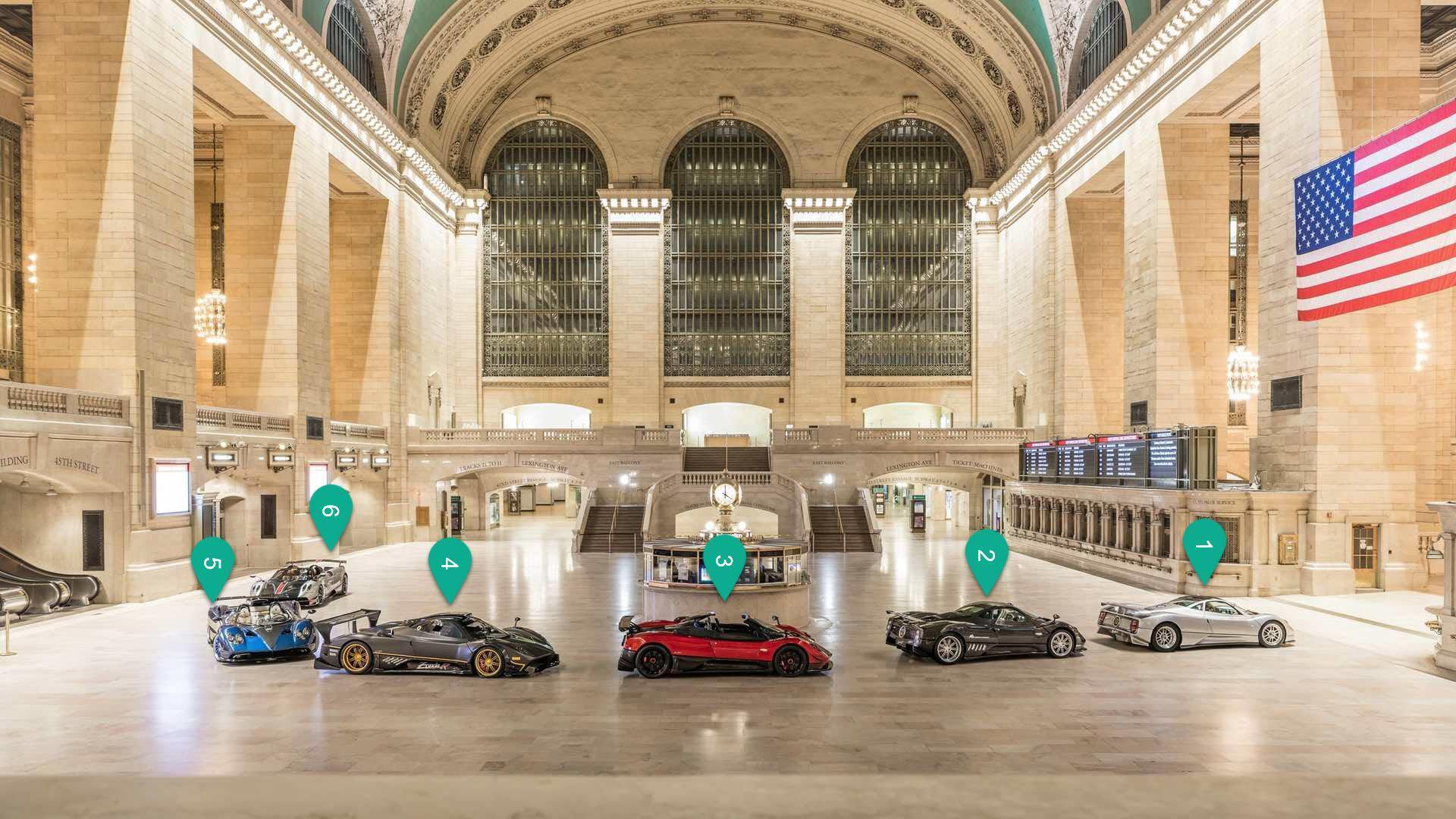6辆帕加尼亮相纽约中央火车站