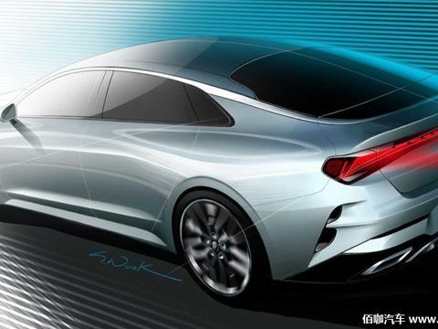 全新起亚K5最新预告图 展示时尚车身侧线条及运动车尾设计