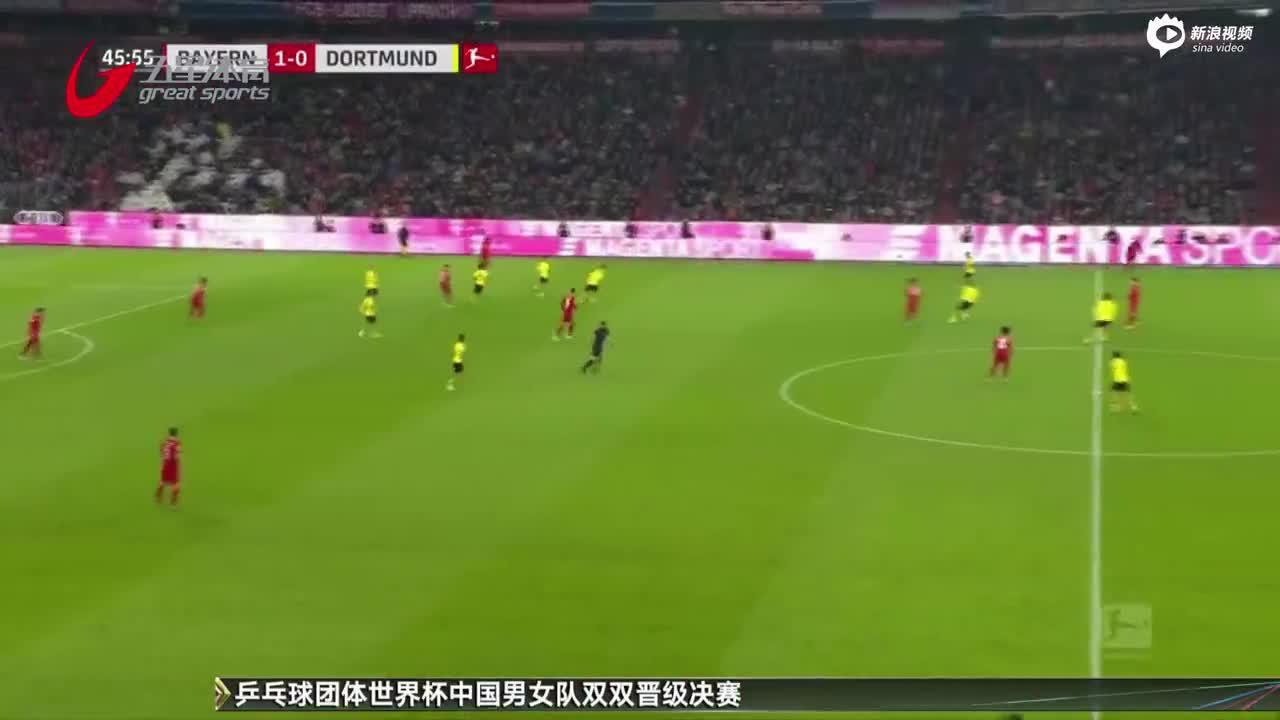 视频-莱万独中两元 拜仁四球完胜多特
