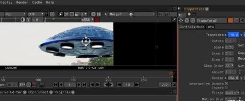 用免费特效软件Natron变换节点做基本的关键帧动画视频