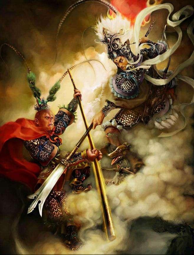 二郎神孙悟空谁是天庭第一战神,五项数据对比居然全部都是他胜出