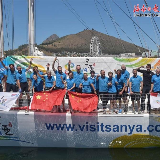 挑战南大西洋成功 三亚号抵达南非开普敦