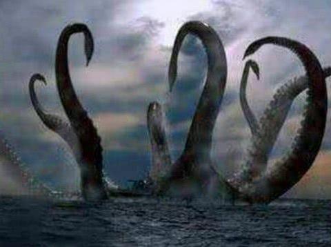 """北欧神话中的""""北海巨妖""""克拉肯,它到底是什么怪物?"""