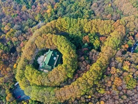 航拍南京美龄宫,高空俯瞰就像一个巨大的项链,美爆了