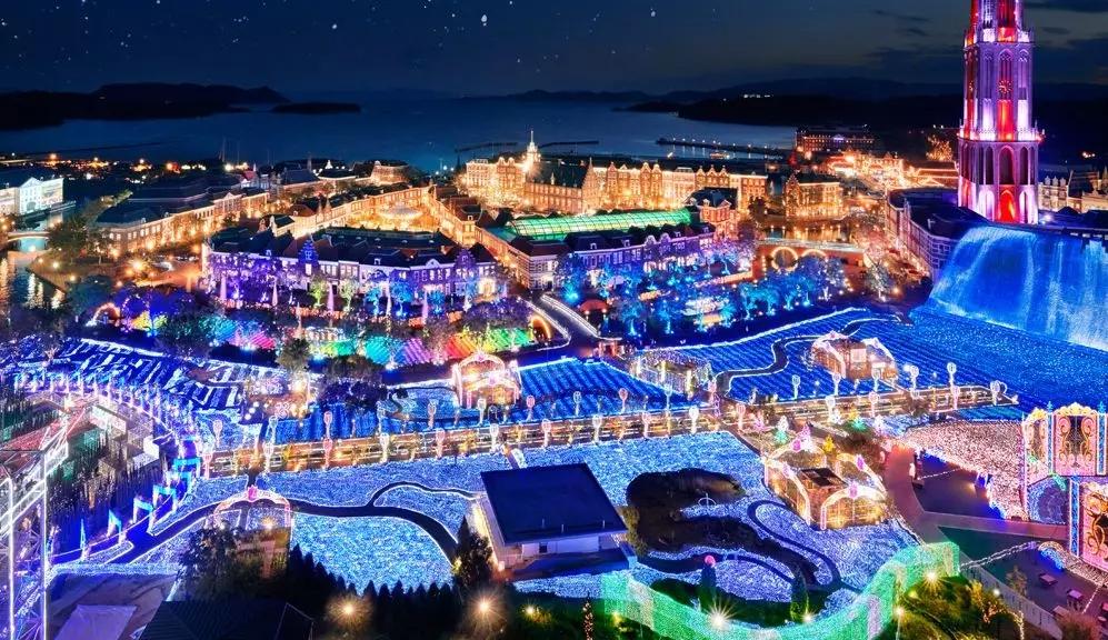 """看日本主题乐园如何靠1300万颗彩灯""""打火""""夜游?"""