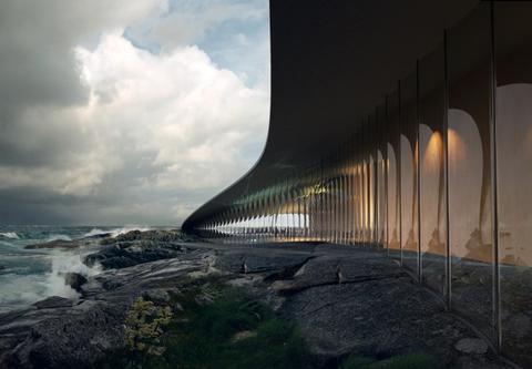 如鲸鱼拍打海面!座落挪威北极圈内的世界最美游客中心
