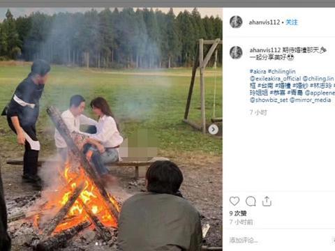 网曝林志玲与老公篝火旁深情对视,婚纱照也是拍得很辛苦