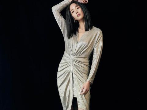 37岁张钧甯造型大变,深v连衣裙藏不住凹凸感,曼妙身材性感十足