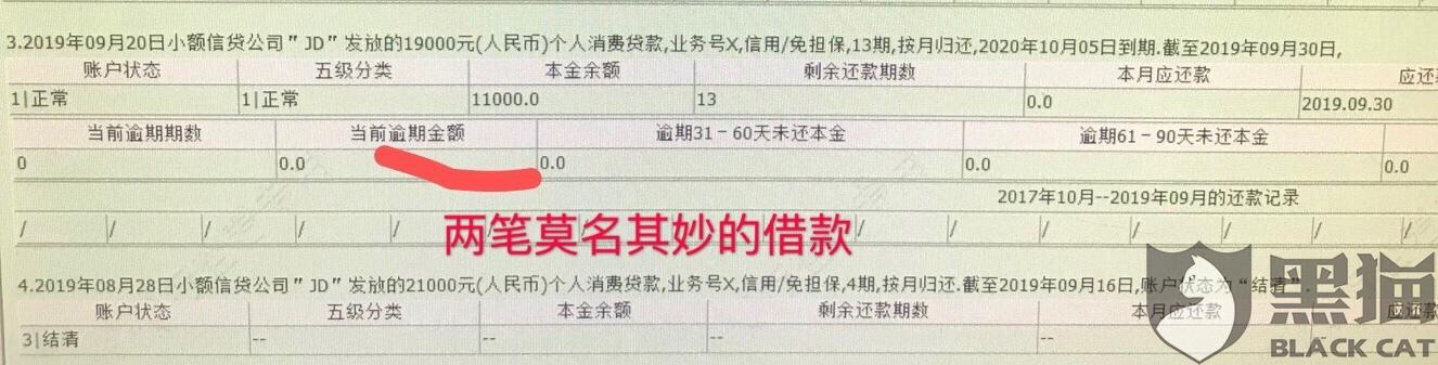 黑猫投诉:京东金条盗用客户信息进行小额贷款