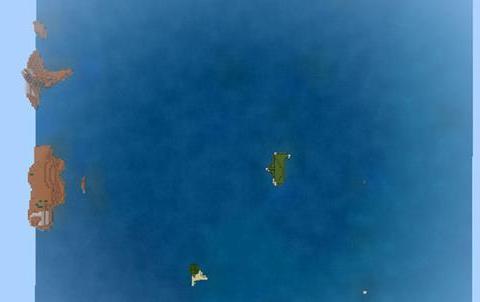 我的世界:水域面积高达98%,只有1棵树,这座孤岛你能活几天