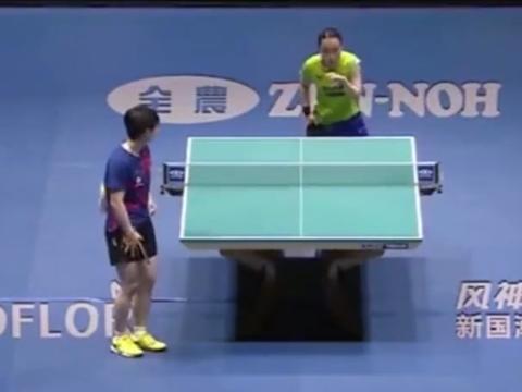 中国女乒:孙颖莎犀利发球,堪比张怡宁,新一代魔王诞生?