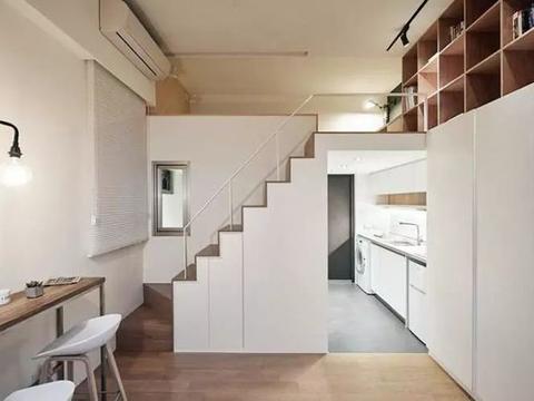 45㎡小户型装修,小复式大空间+素雅简约设计