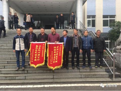 阳新洋港镇:为民服务解难题 群众感恩送锦旗