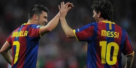 比利亚:很幸运曾和梅西做队友,伊涅斯塔还能踢很长时间