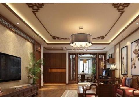 中式装修风格客厅里的中式摆件