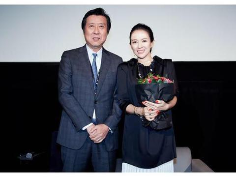 章子怡出席映后见面交流,网友:这么多年根本没胖过