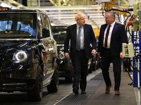 """英国首相约翰逊再访LEVC  点赞TX引领英国""""绿色工业革命"""""""