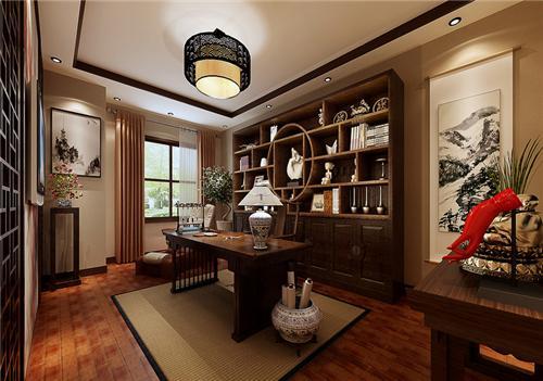 中式风格室内装修效果图,15万打造117平纯正中式风