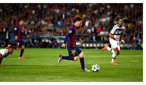 缺席5场比赛,梅西依旧是五大联赛进球王,不得不佩服