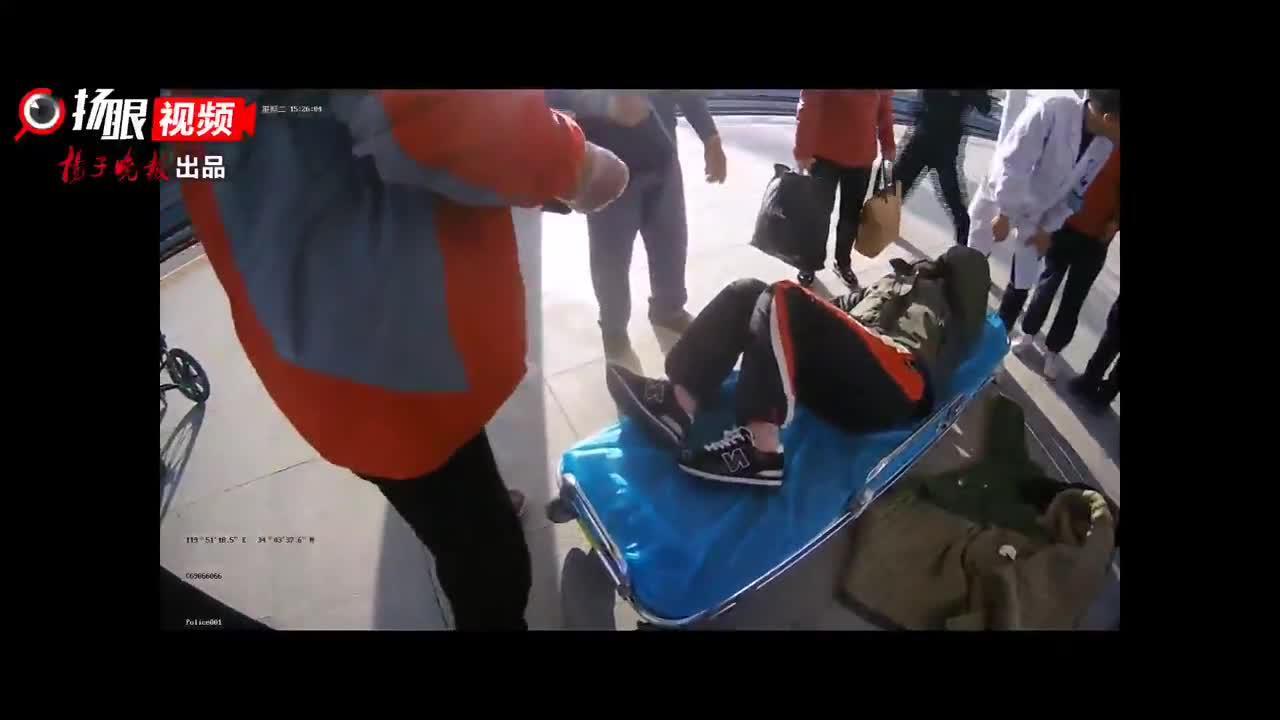旅客突发疾病晕倒  警民联手紧急救助