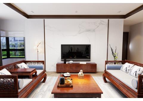 济南鼎秀家园装修-新中式风格设计-红木家具
