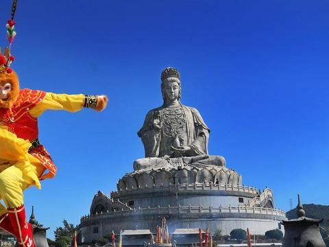 东莞观音山-世界最大花岗岩石雕观音像