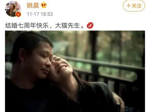 反击凌潇肃?姚晨庆祝结婚七周年晒夫妻甜蜜合照