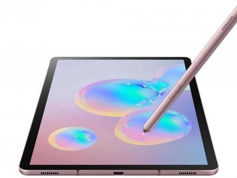 粉色版Galaxy Tab S6渲染图曝光:确认屏下指纹方案
