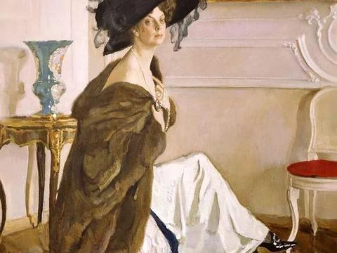 他画得轻松、挥洒而富于灵感,作品带有法国印象派似的色彩和光感