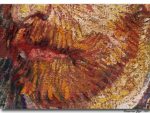 梵高油画技法研究——《戴草帽的自画像》